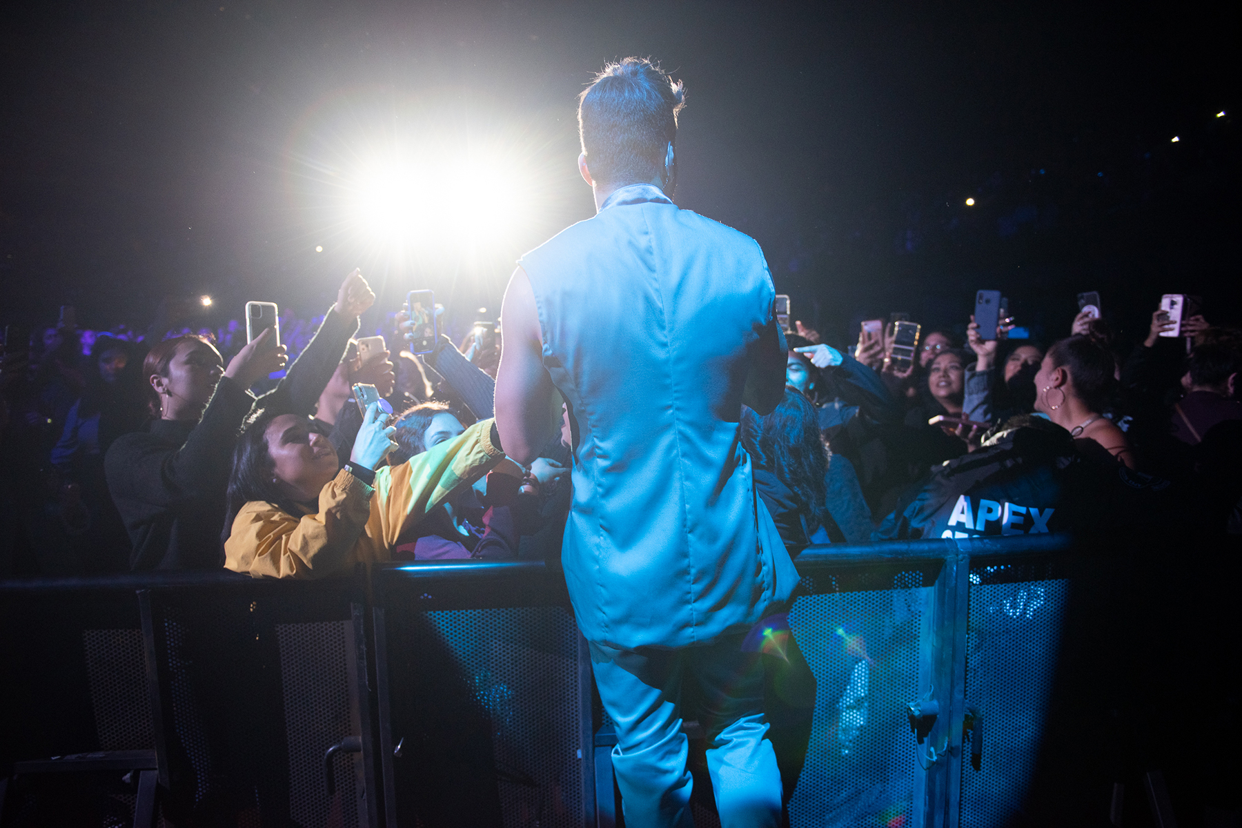 Prince Royce performs at the Forum in Los Angeles on March 12th, 2020.