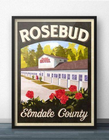 Schitt's Creek fan gifts Rosebud Motel poster