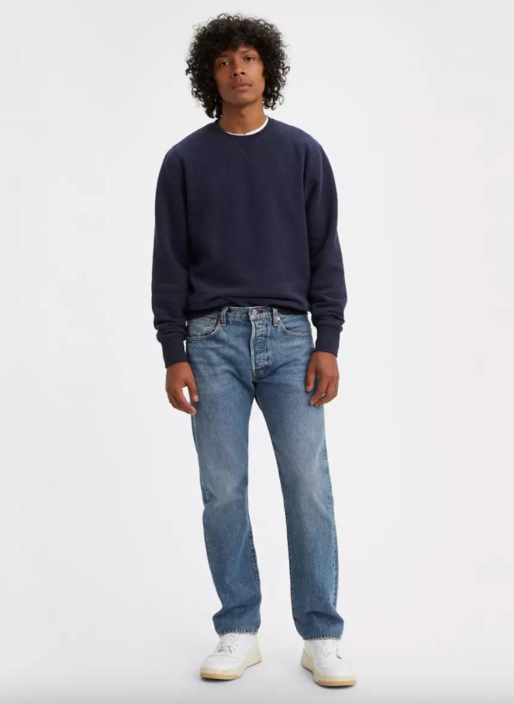 Best Dad Jeans Levi's 501 Original Fit Jeans for Men