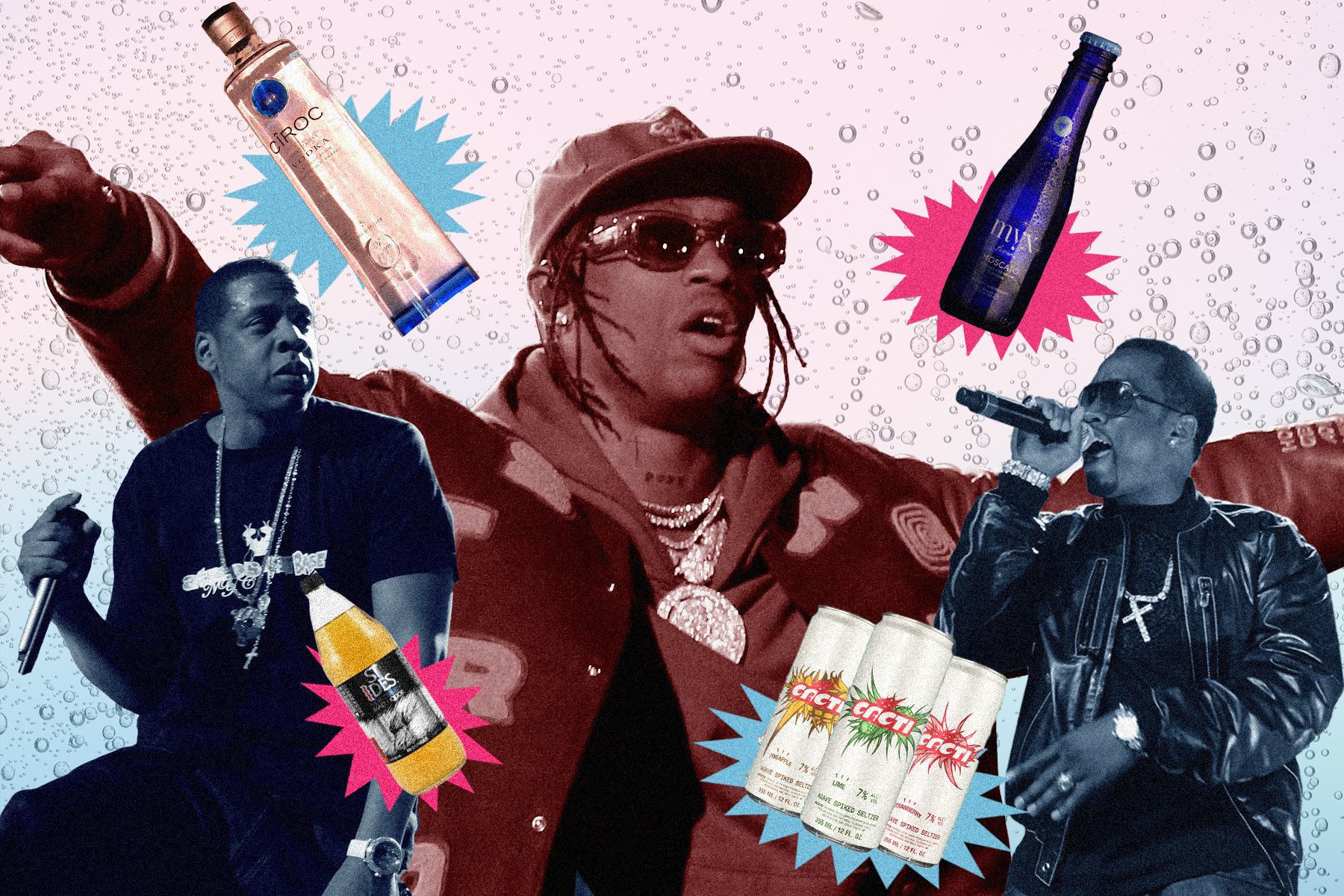 Travis Scott's Cacti Seltzer and the Long History of Hip-Hop Beverages
