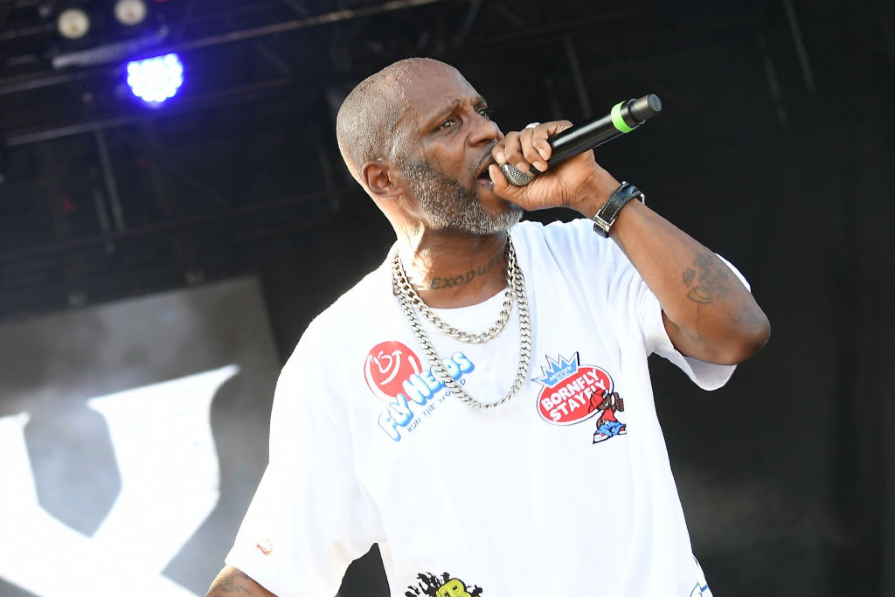 ATLANTA, GEORGIA - SEPTEMBER 08:  Rapper DMX performs onstage during 10th Annual ONE Musicfest at Centennial Olympic Park on September 08, 2019 in Atlanta, Georgia. (Photo by Paras Griffin/Getty Images)