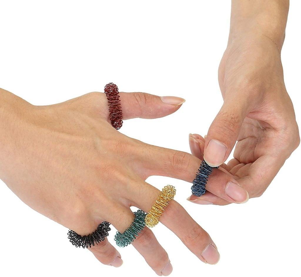 Best Fidget Rings-Mr. Pen-Spiky-Sensory-Rings