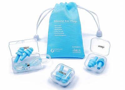 ANBOW Waterproof Noise Reduction Earplugs, Best Reusable Earplugs