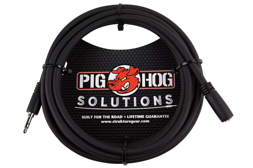 Pig Hog PHX35-10 3.5mm, Best Headphone Extension Cable