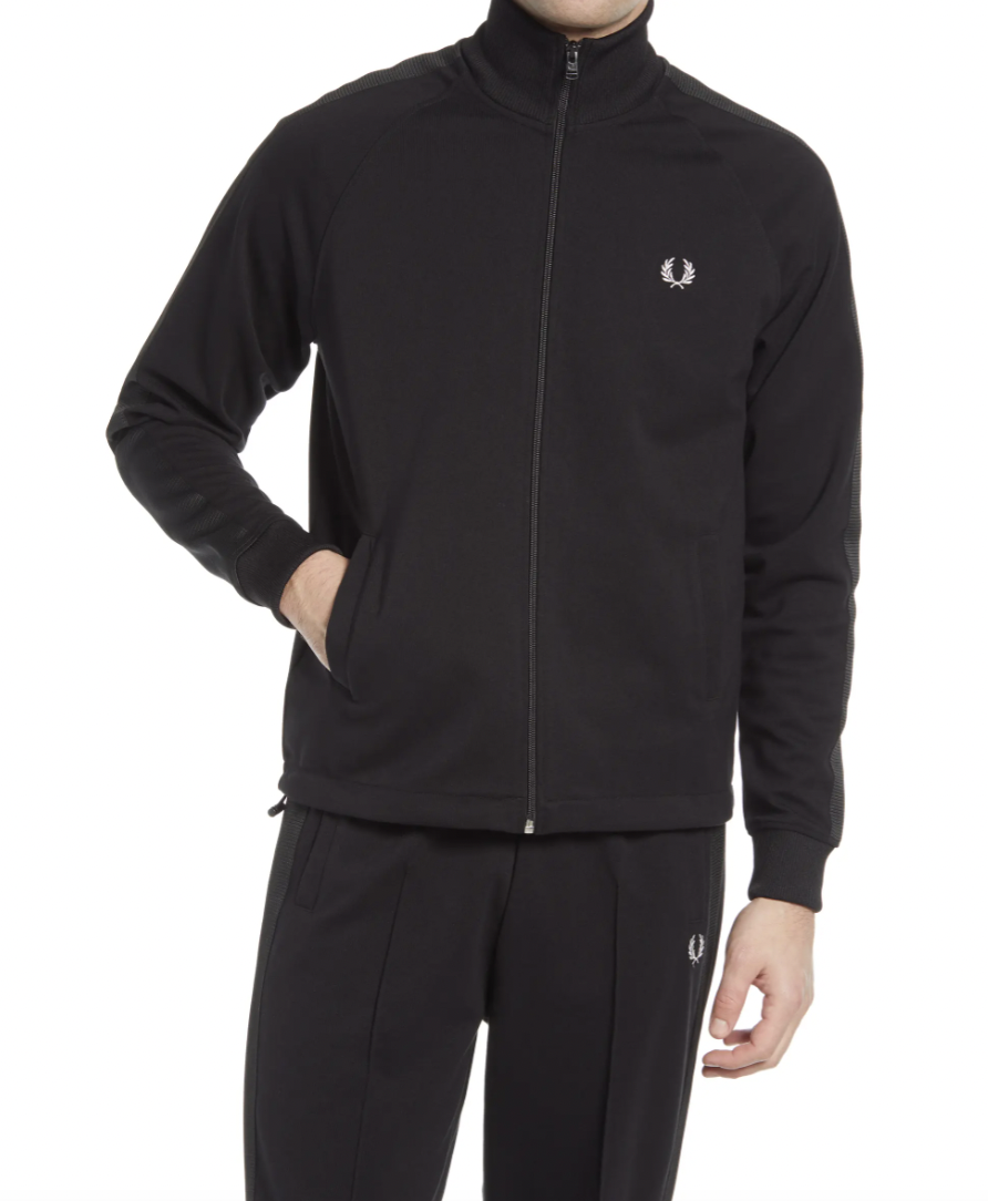black tracksuit mens fred perry