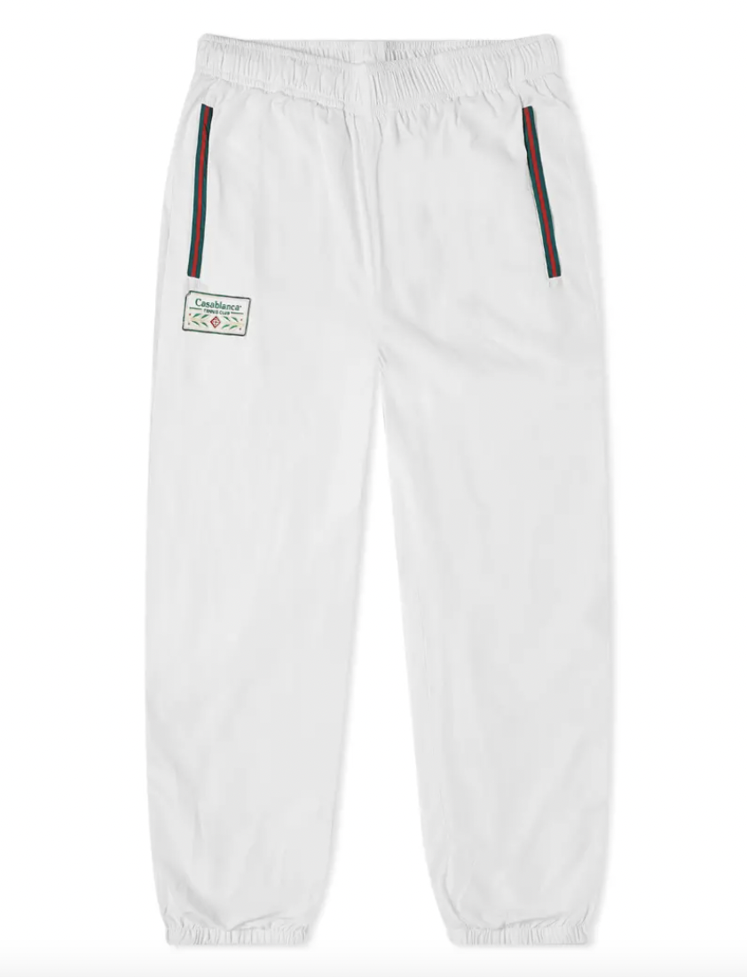 track pants white designer