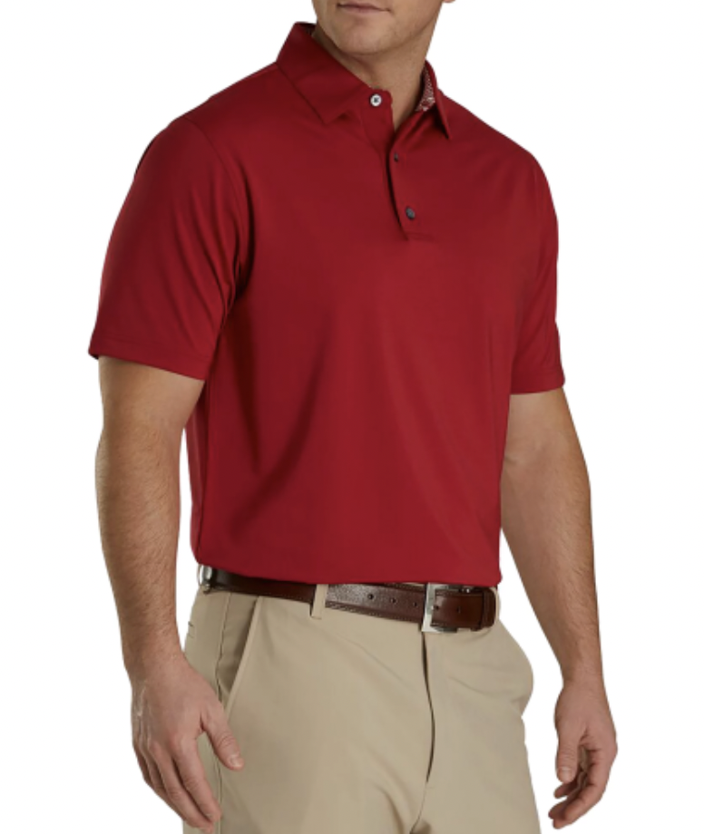red golf polo footjoy