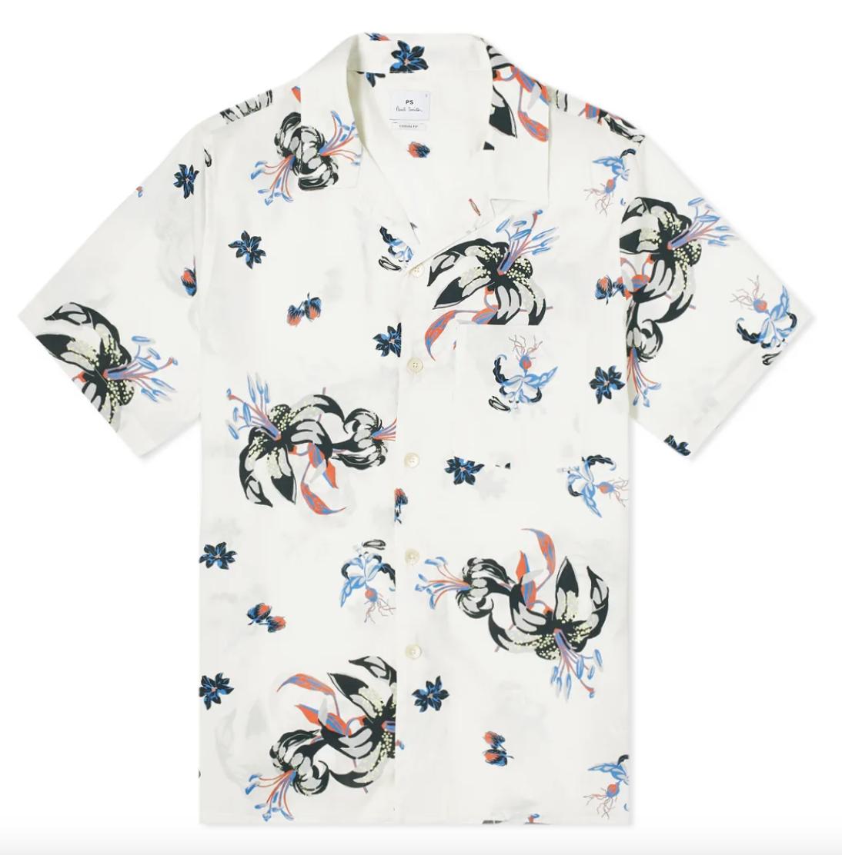white hawaiian shirt paul smith
