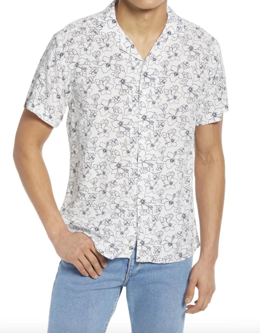 white vacation shirt mens