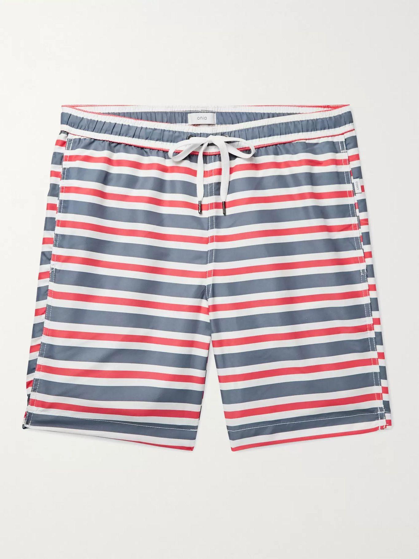 striped swim shorts mens