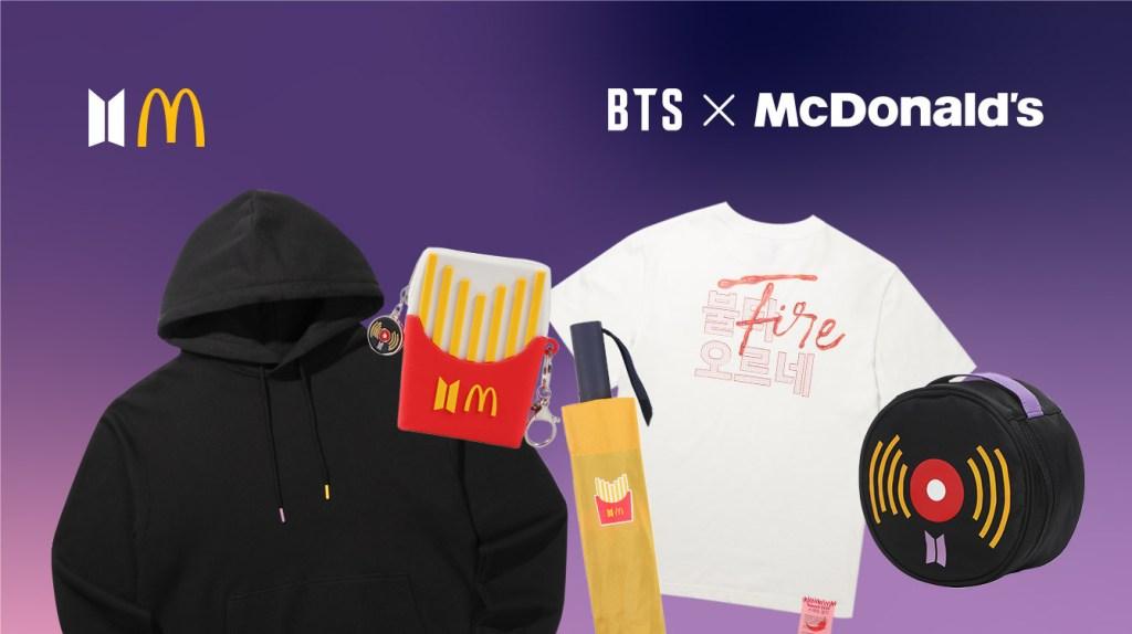 BTS McDonald's banner