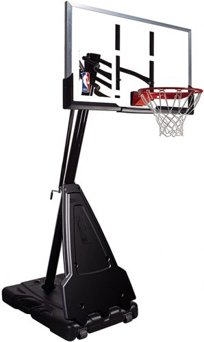 moveable basketball hoop spalding