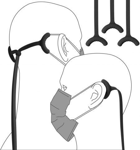 mask head strap ear cushion