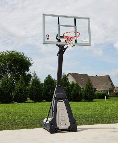 outdoor basketball hoop spalding