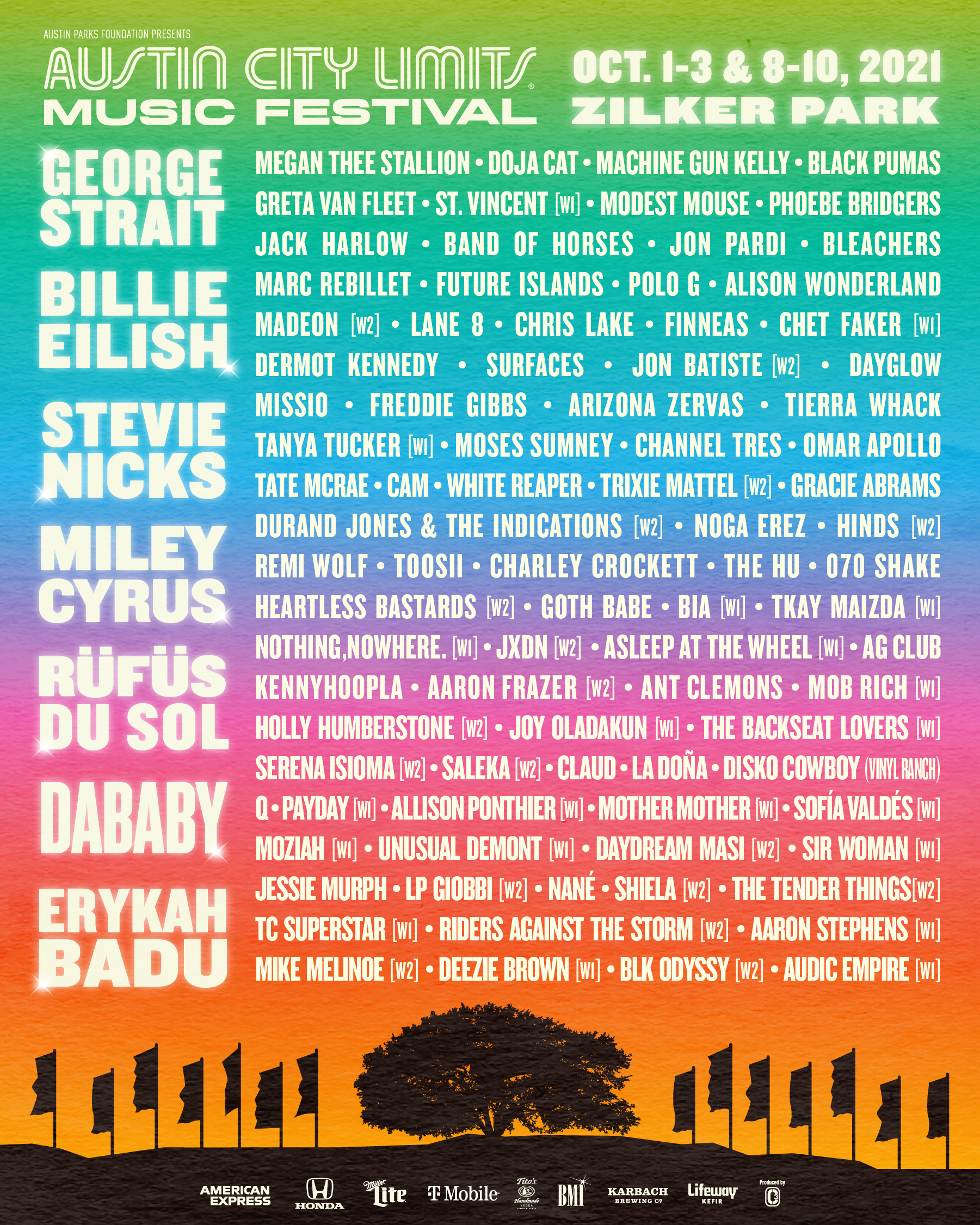 acl lineup poster