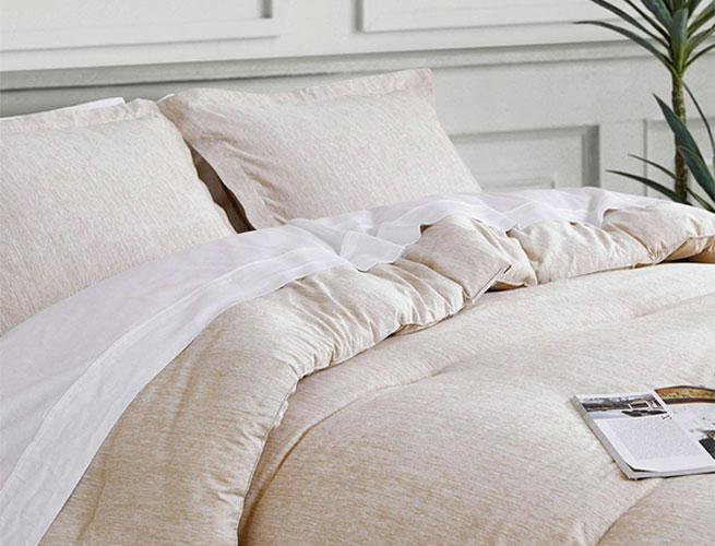 bedsure khaki bed comforter set