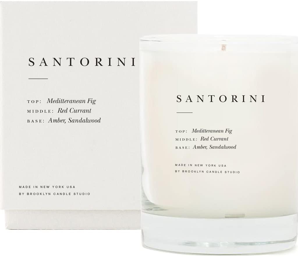 Brooklyn Candle Studio Escapist Candle Santoirini, best smelling candles
