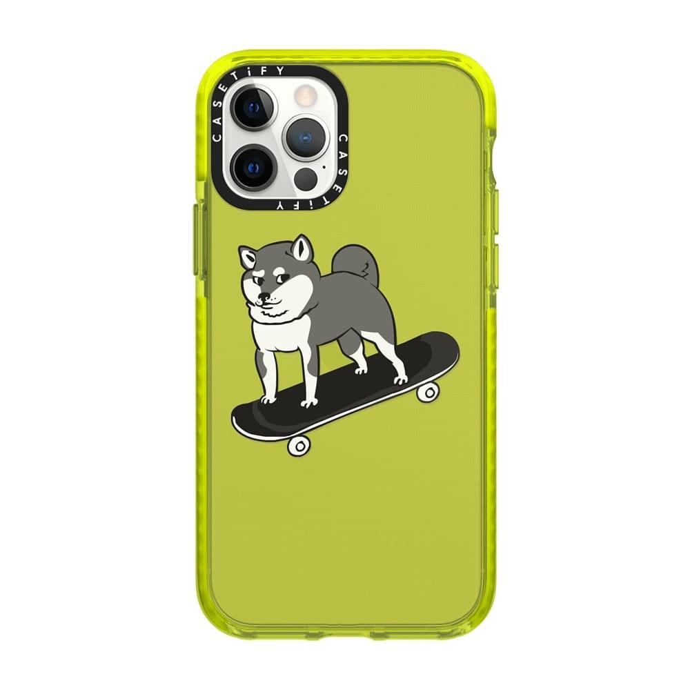 skateboarding shiba inu-best casetify phone cases
