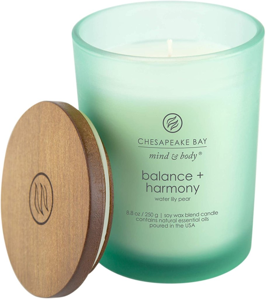 Chesapeake Bay Balance and Harmony Water Lily Pear, best smelling candles