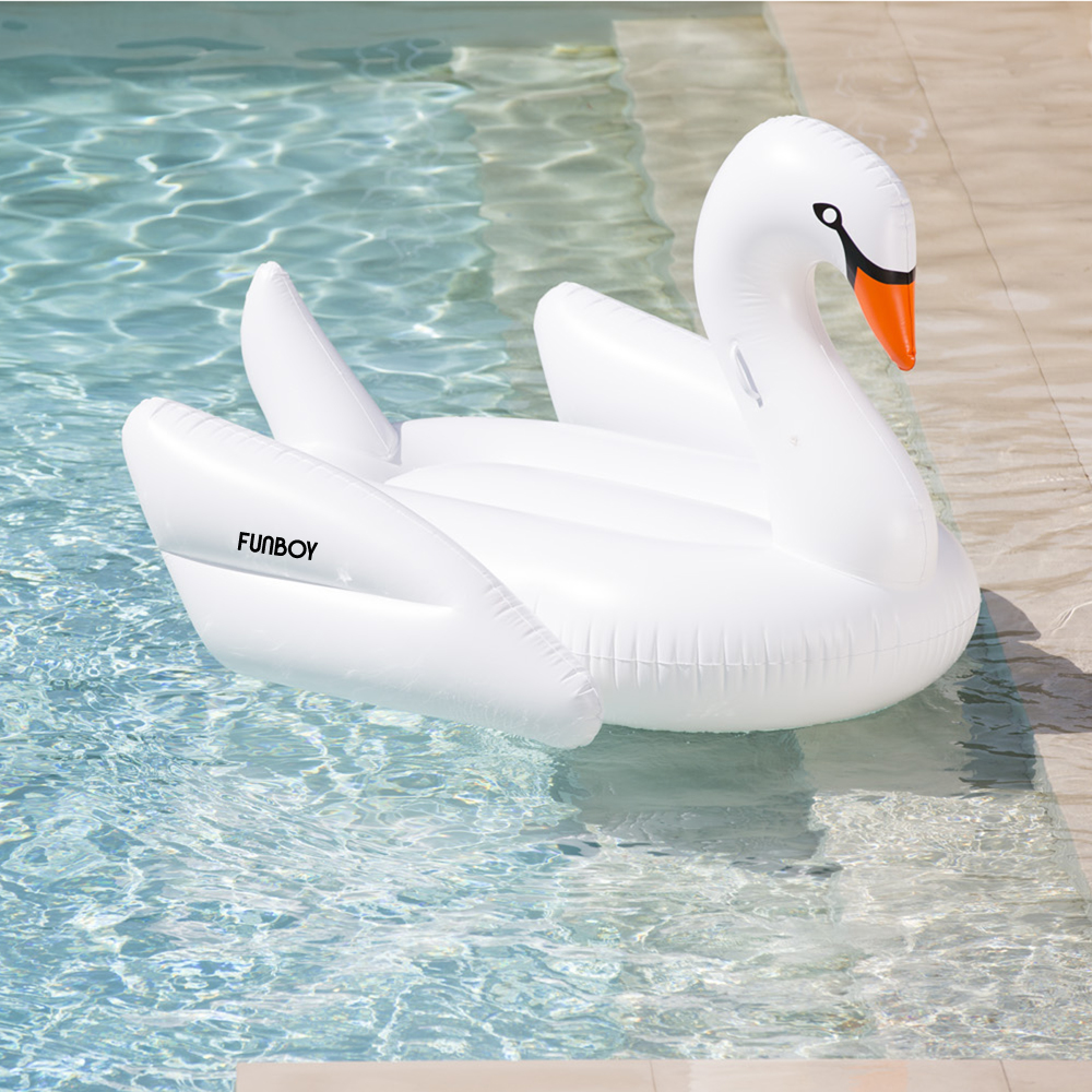 FUNBOY White Swan Pool Float