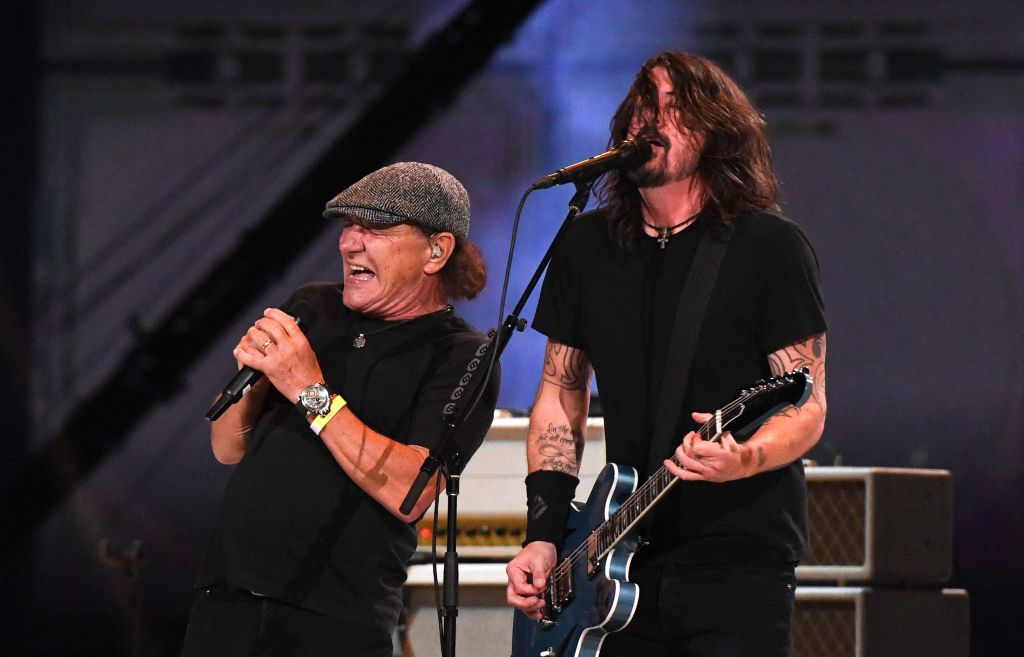 Watch Foo Fighters Perform 'Back in Black' With AC/DC's Brian Johnson at Vax Live Concert