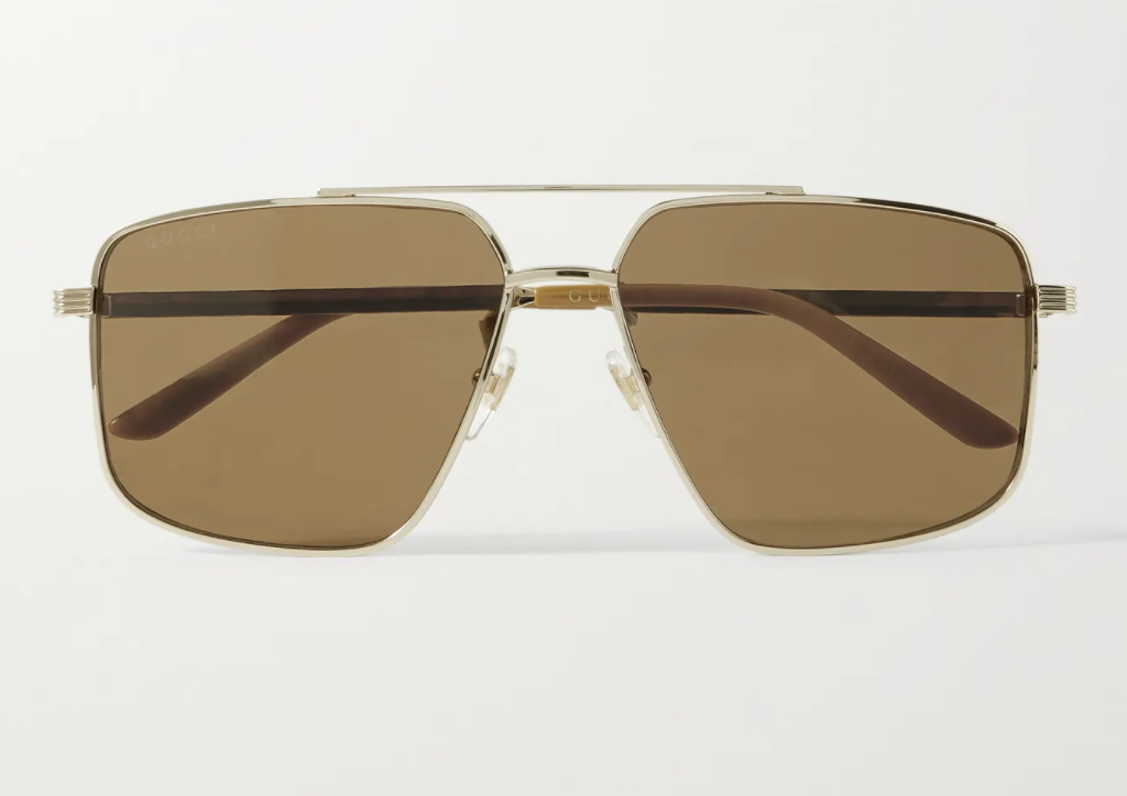 gucci aviator style gold sunglasses-best sunglass for driving-mr porter