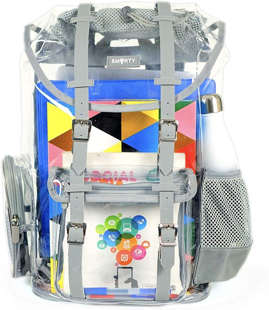 SMARTY Heavy Duty Clear Backpack
