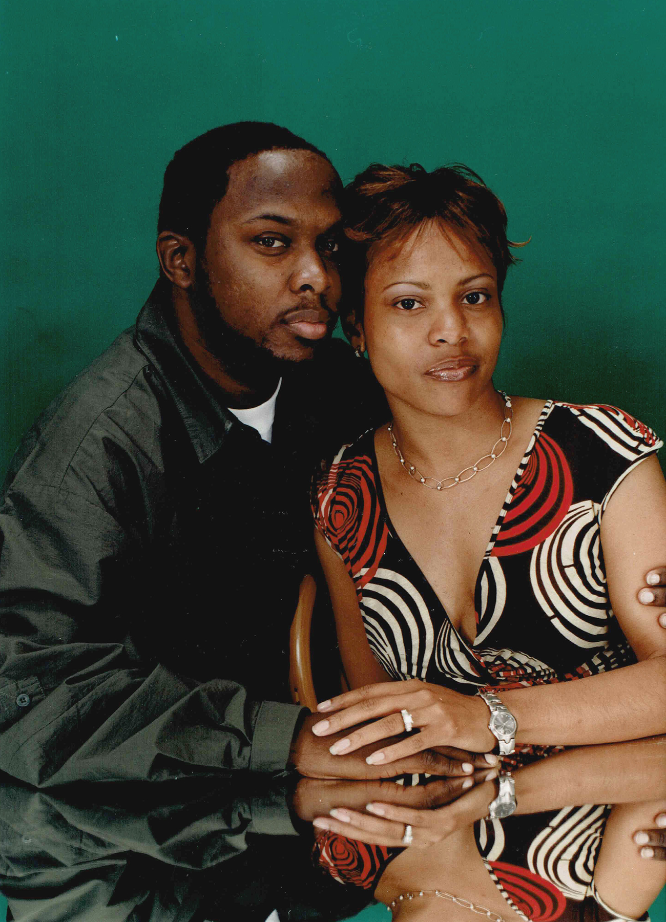 Malik Taylor Phife Dawg with wife Deisha Head-Taylor around the time of their engagement in 2001.