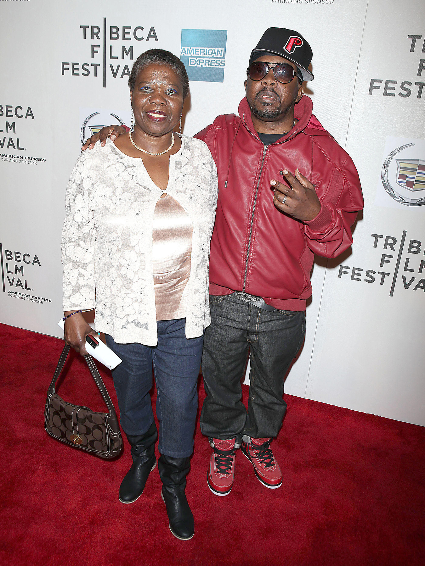 DB59GE Cheryl Taylor, Phife Dawg, Malik Taylor, 2011 Tribeca Film Festival premiere of 'Beats, Rhymes & Life: The Travels of a Tribe Called Quest' at BMCC TPac New York City, USA - 27.04.11