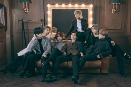 BTS, photographed in Seoul on April 6th, 2021.