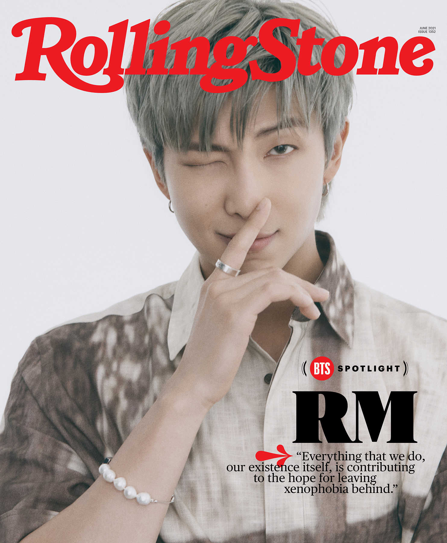 RM of BTS, photographed in Seoul on April 6th, 2021.