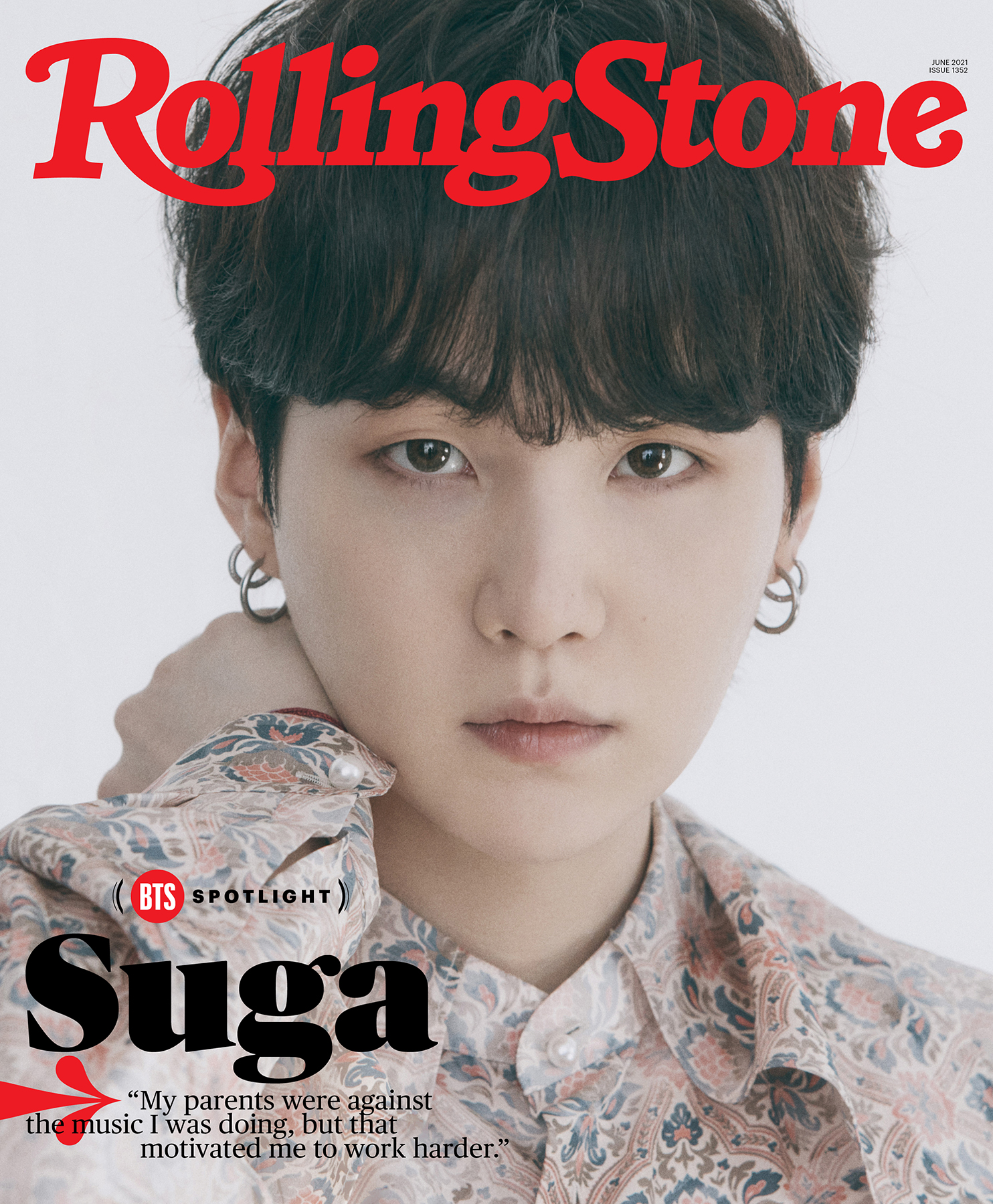Suga of BTS, photographed in Seoul on April 6th, 2021.