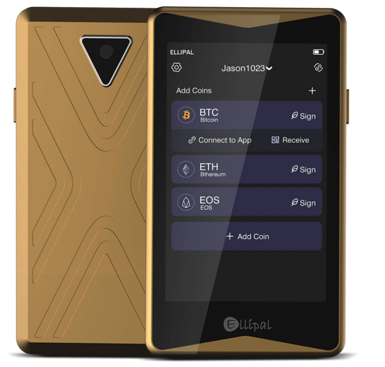 Ellipal Cold Wallet Gold Titan, Best Crypto Wallet