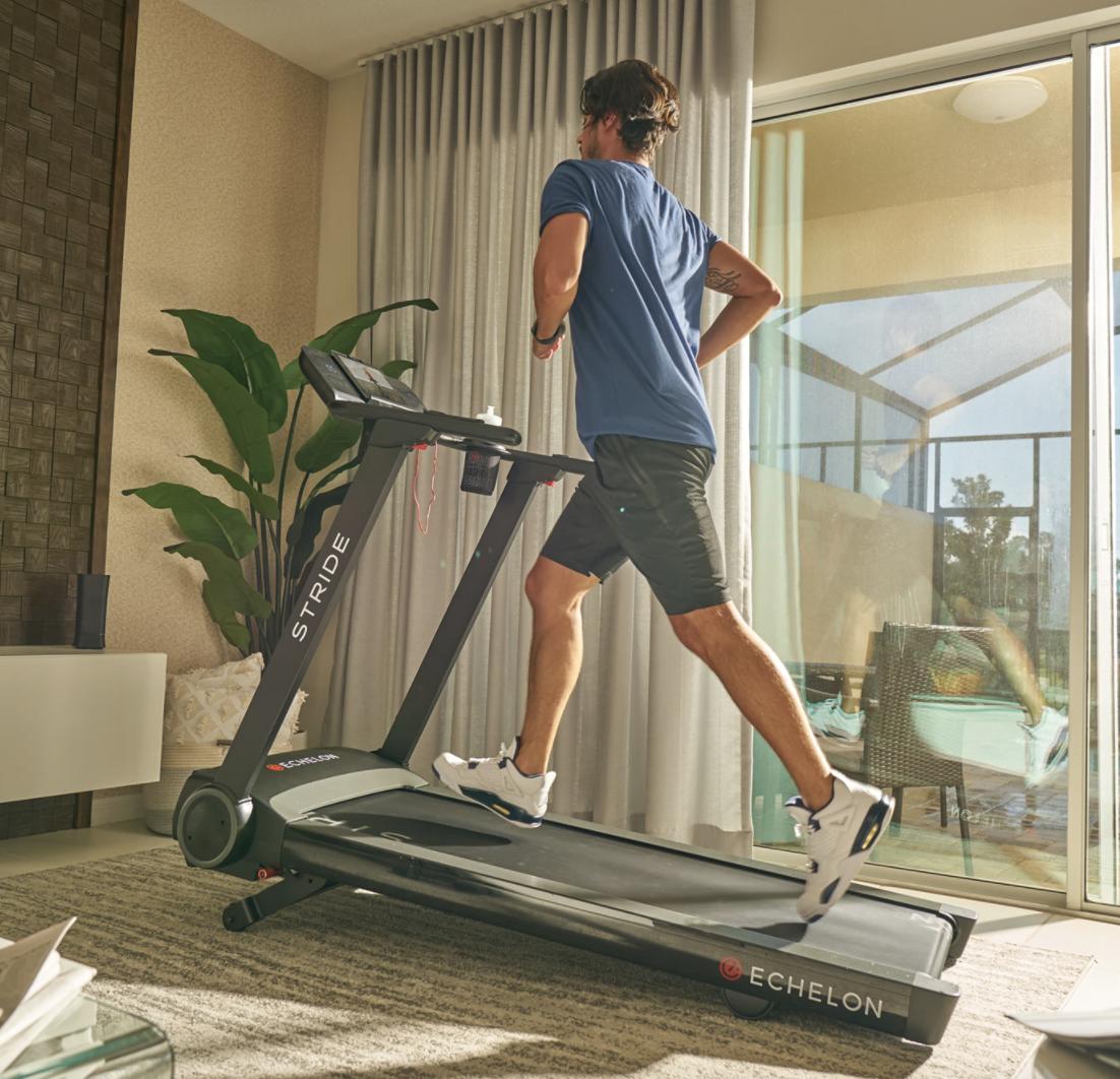 small treadmill folding echelon