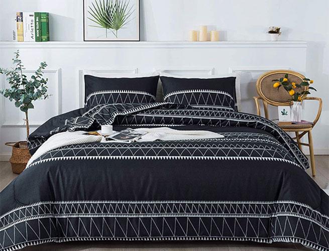 ardency black boho comforter set