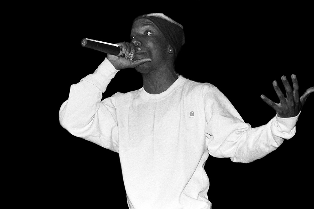 CHICAGO - APRIL 01: Rapper Big L performs at the International Amphitheatre in Chicago, Illinois on April 1, 1995. (Photo By Raymond Boyd/Getty Images)