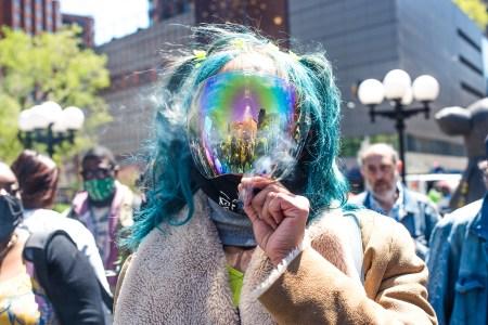 cannabis rally and parade broadway new york city union square park marijuana