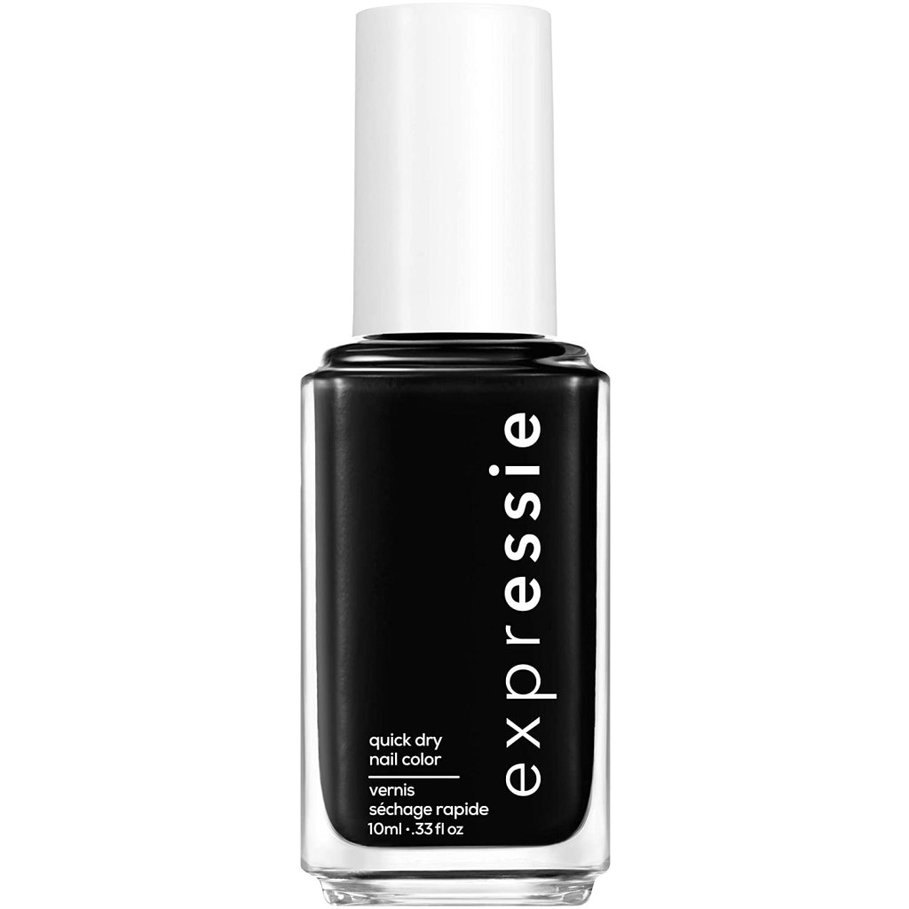 Essie Expressie, Now or Never Black, best nail polish for men