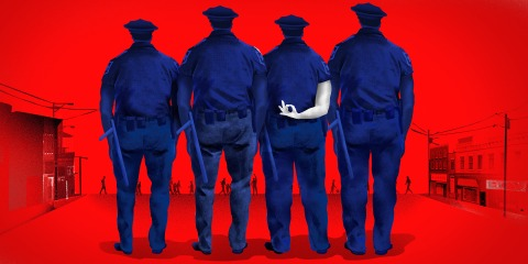 ghost skin cops white supremacy police racist enemy within