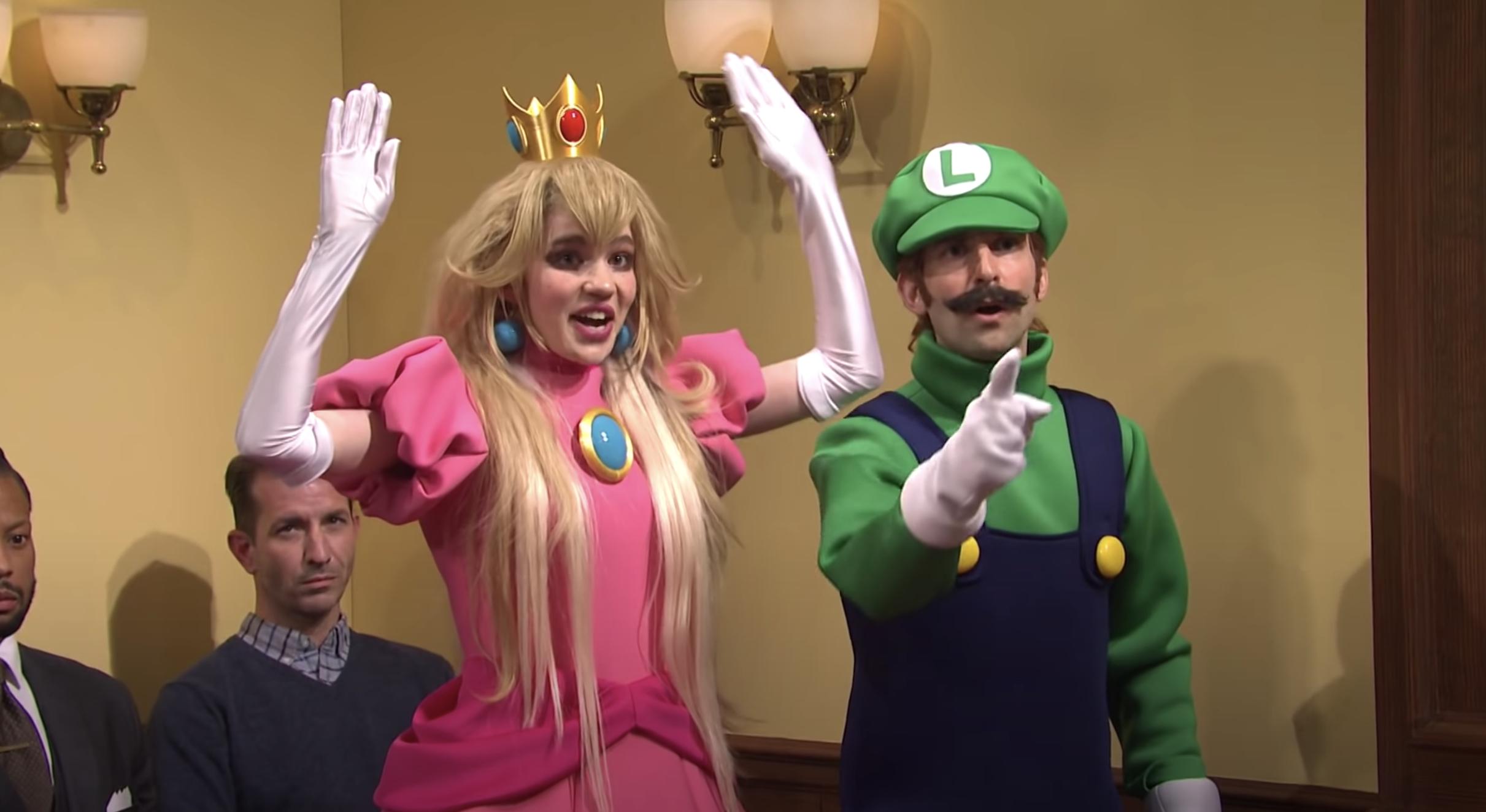See Grimes as Princess Peach, Elon Musk as Wario in 'SNL' Mario Murder Trial Sketch - Rolling Stone
