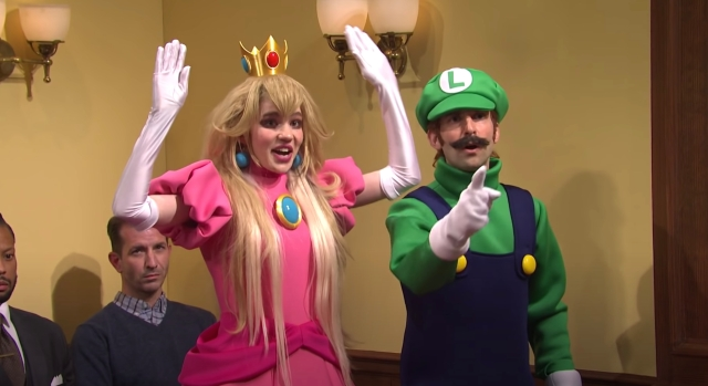 See Grimes as Princess Peach, Elon Musk as Wario in 'SNL' Mario Murder Trial Sketch.jpg