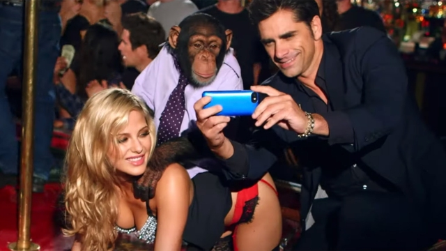 John Stamos, Chimp Enjoy Wild Night at Strip Club in the Offspring's 'We Never Have Sex Anymore' Video.jpg