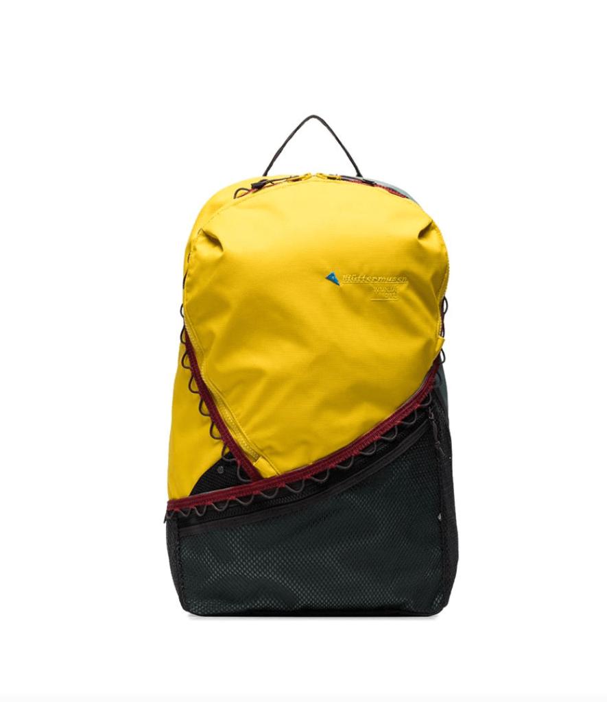 klattermusen colour-block logo backpack, best festival backpacks