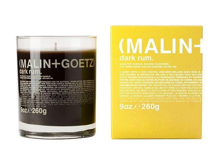 Malin + Goetz Dark Rum, best smelling candles