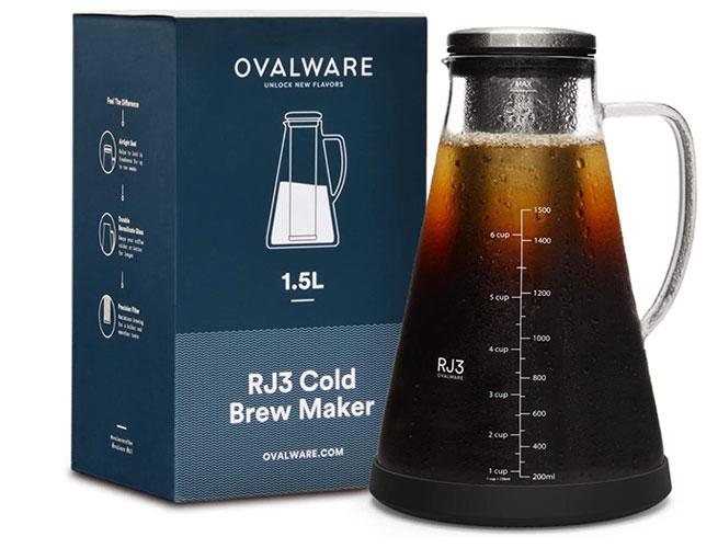 ovalware airtight cold brew coffee maker