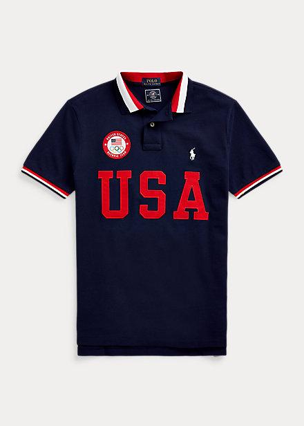 polo ralph lauren ecofast team usa polo shirt-best tokyo olympics merch