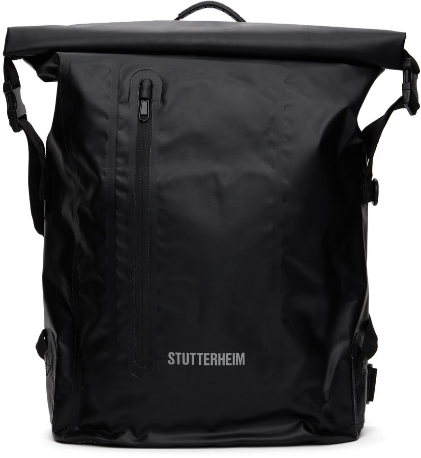 stutterheim black rolltop rain backpack, best festival backpacks