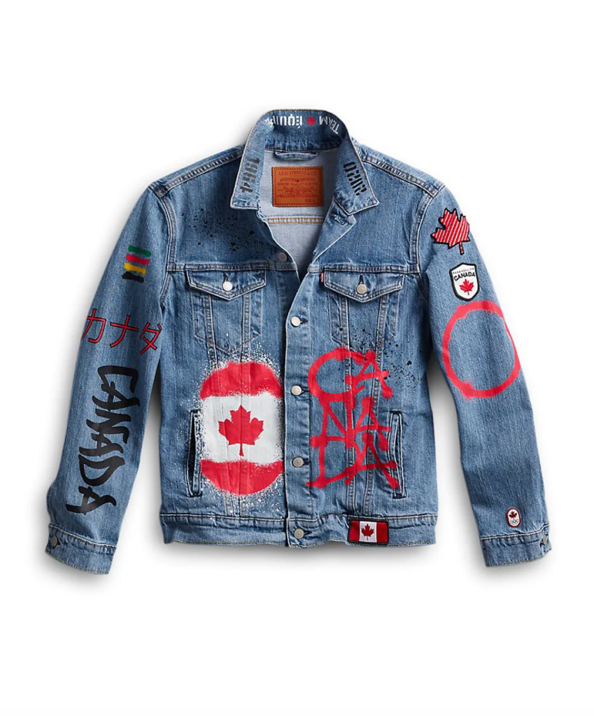 canadian olympic team collection levis denim jacket-best tokyo olympics merch