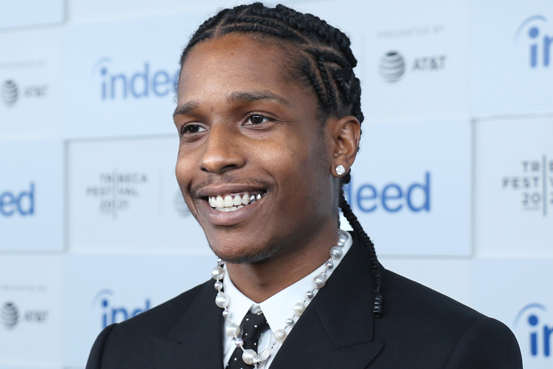 """NEW YORK, NEW YORK - JUNE 13: Rapper ASAP Rocky attends the """"Stockholm Syndrome"""" premiere during the 2021 Tribeca Festival at The Battery on June 13, 2021 in New York City. (Photo by Jim Spellman/Getty Images)"""