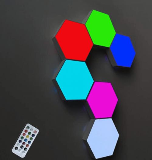 ODISTAR Remote Control Hexagon Wall Light